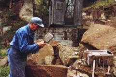 Alfons Nett bei der Arbeit